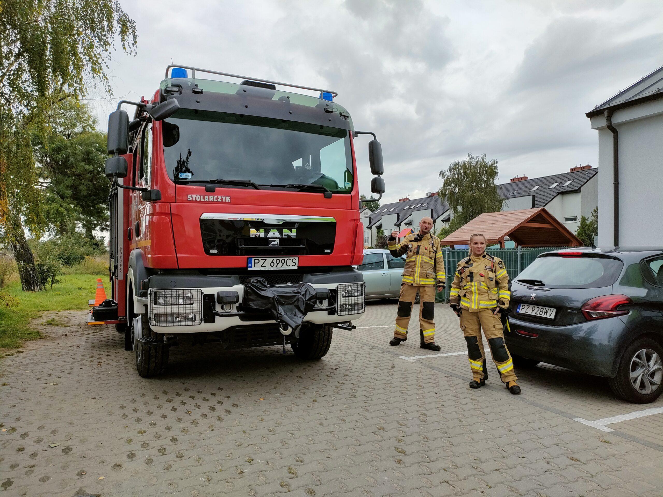 Spotkanie Odkrywców ze strażakami